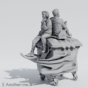 CG rendering of a 3D digital sculpture