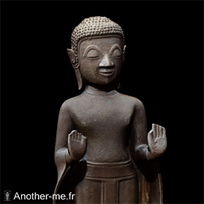 Bronze Bouddha statue textured 3D scan - 30cm high