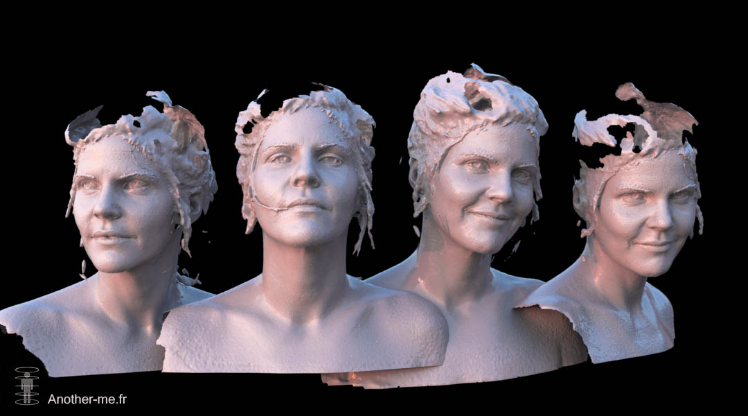 Raw 3D Scans - Woman Bustes - CG render