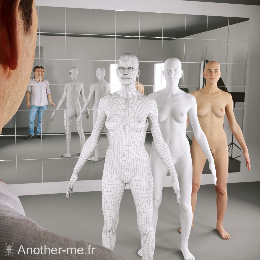 Full body 3D scan with retopology ready for animation