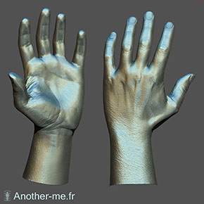 High resolution hand 3D scan