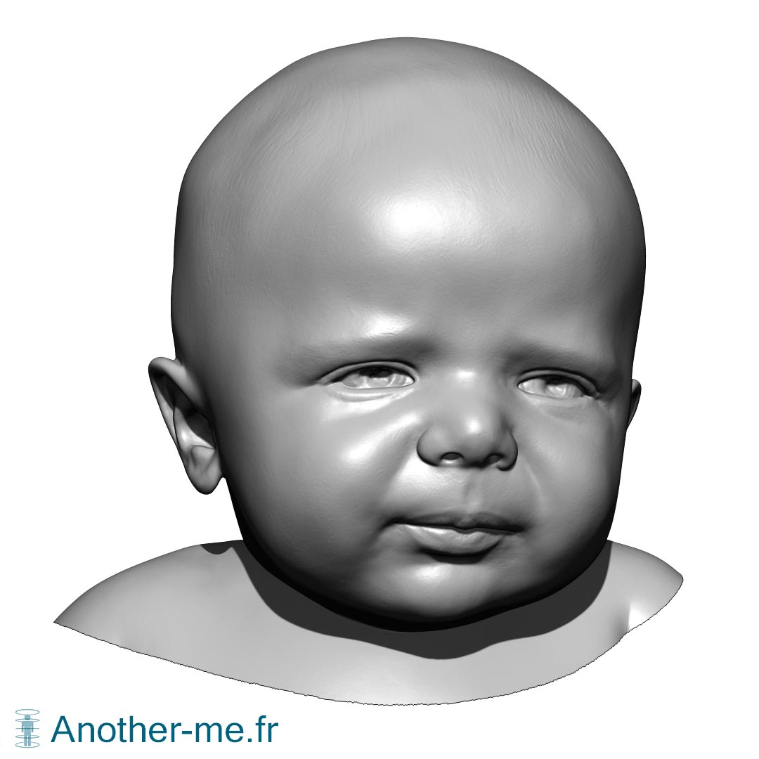2 months newborn head 3D scan