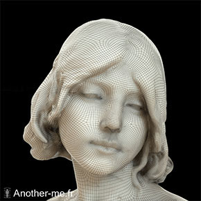Marble sculpture 3D scan captured in-situ at Musée d'Orsay, Paris