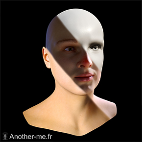 Photorealist rendering of a face scan